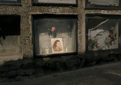 En kvinnas grav på kyrkogården Montjuic i Barcelona