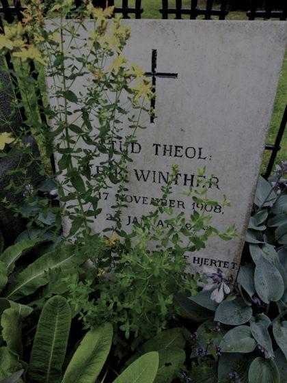 Gravsten på Assistens kyrkogården i Nörrebro Köpenhamn